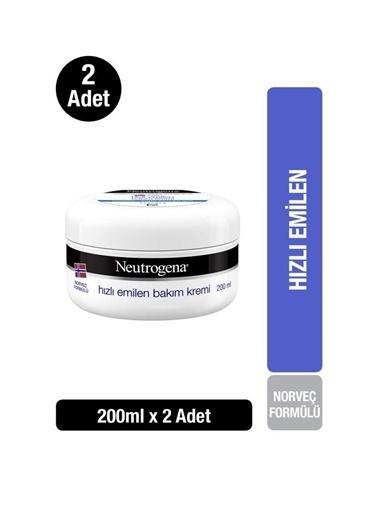 Neutrogena Norveç Formülü Hızlı Emilen Bakım Kremi 200 Mlx 2 Adet Renksiz